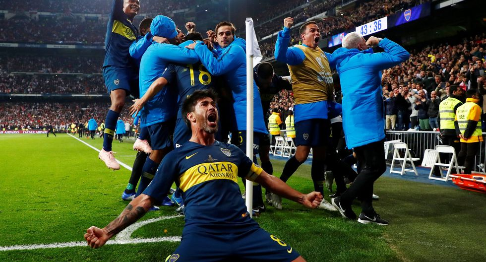 River vs. Boca: así fue el golazo de Benedetto para el 1-0 que desató la locura 'xeneize' el Santiago Bernabéu. (Foto: AFP/Reuters)