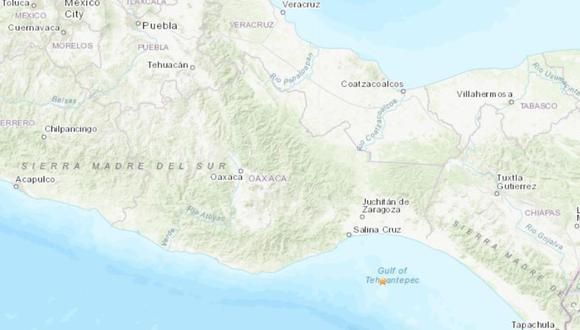 México registró un fuerte sismo este lunes. (Foto: USGS).