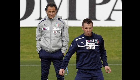 Antonio Cassano volvió a la selección de Italia