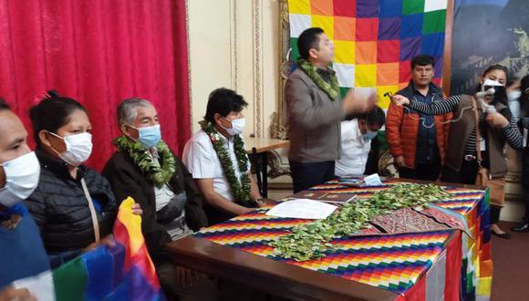 Encuentro entre el expresidente de Bolivia Evo Morales y el congresista de Perú Libre, Guillermo Bermejo | Foto: @GuilleBermejo01