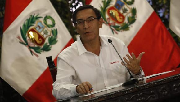 En la última encuesta nacional urbano-rural de El Comercio-Ipsos (15 de marzo), Martín Vizcarra logró 52% de aprobación. (Foto: Difusión)