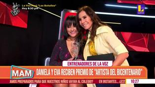 """Daniela Darcourt y Eva Ayllón reciben el premio de """"Artista del bicentenario"""""""