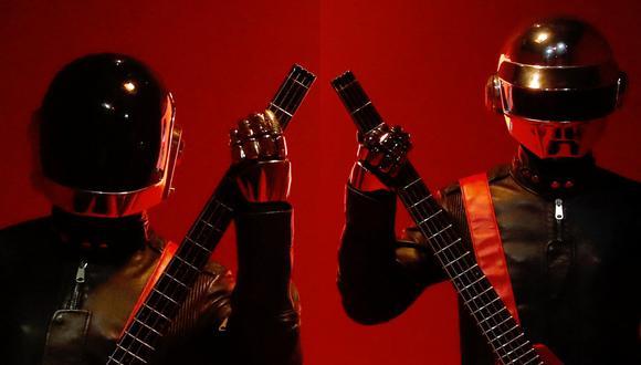 Technologic Redux, muestra de Daft Punk desarrollada en 2019 en París, Francia. Este 2021, el dúo anunció su final. Foto: FRANCOIS GUILLOT / AFP.
