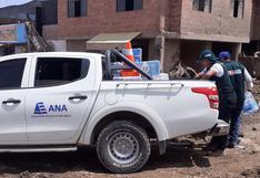 Minagri entrega agua a los damnificados por huaico en Tacna