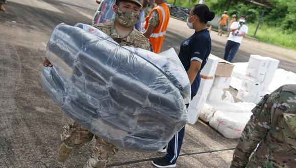 El Gobierno envió 6 toneladas de ayuda humanitaria para los damnificados a causa del desborde de los ríos en Madre de Dios. (Foto: Gore Madre de Dios)
