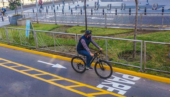 El uso de ciclovías se ha convertido en una alternativa para transportarse en medio de la pandemia del coronavirus (COVID-19). (Foto: Municipalidad de San Borja).
