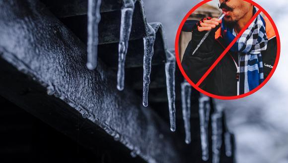 Una mujer del clima enumeró los motivos por los que jamás debemos ingerir estos pedazos de hielo por más inofensivos que parezcan. | Crédito: Pexels / Referencial.