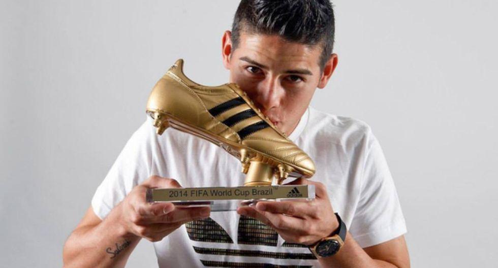 James Rodríguez recibe la Bota de Oro del Mundial Brasil 2014