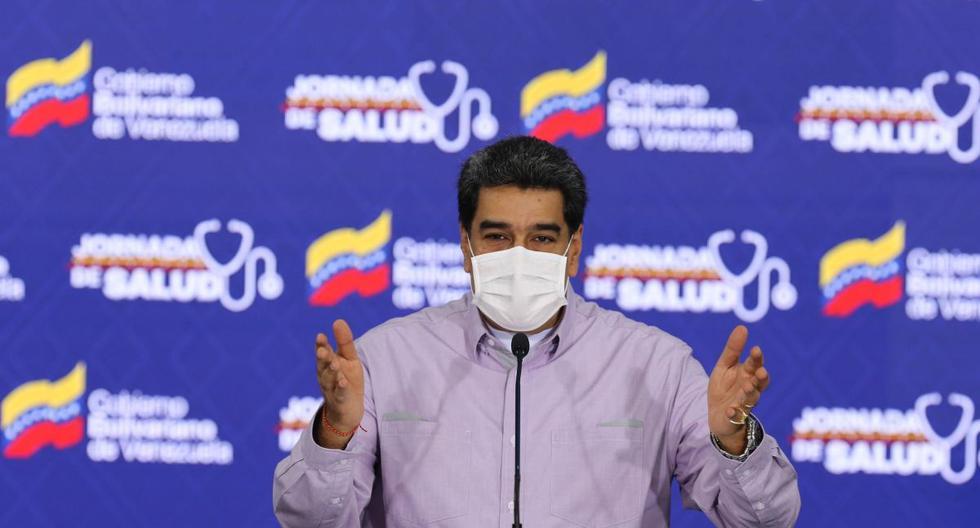 """Nicolás Maduro indicó que el promedio de incidencia del coronavirus en Venezuela es """"bastante bajo"""", lo que permite, continuó, """"pensar en el plan de desescalada de manera segura y organizada"""", aunque, por el momento, no existe un cronograma establecido. (Foto: EFE//MIRAFLORES)."""