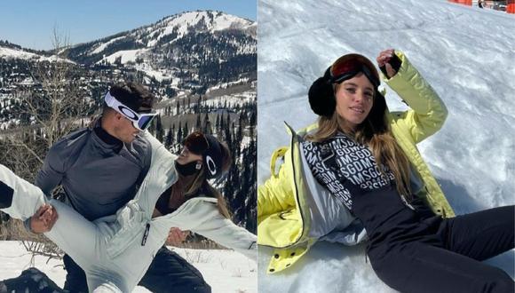 Flavia Laos y Patricio Parodi disfrutaron de la nieve en Utah, Estados Unidos. (Foto: @flavialaosu)