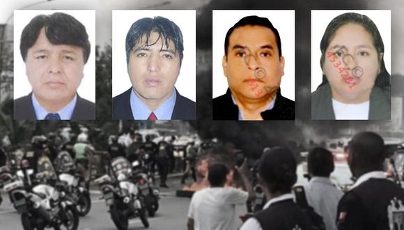 De izquierda a derecha: Ramón Rubín Benancio, Richard Bernachea Villanueva, Julio Campos Cárdenas, y Rina Huacre Meza