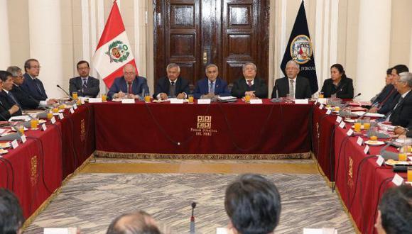 El Poder Judicial presentará el próximo miércoles 25 sus propuestas para la reforma del sistema de justicia. (Foto: Poder Judicial)