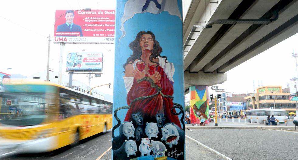 En octubre del año pasado se plantearon murales sobre la lucha contra la violencia a la mujer. (Foto: Alessandro Currarino)