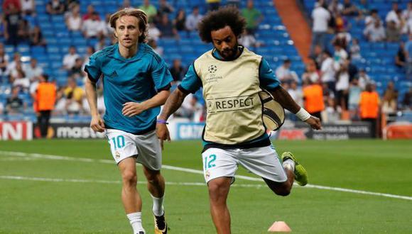 Marcelo y Modric juegan juntos en el Madrid desde 2012. (Foto: Reuters)