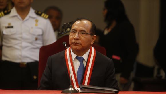 Víctor Ticona, presidente del JNE, recordó que el período del representante del CAL, Raúl Chanamé, venció el 4 de julio (Foto archivo El Comercio)