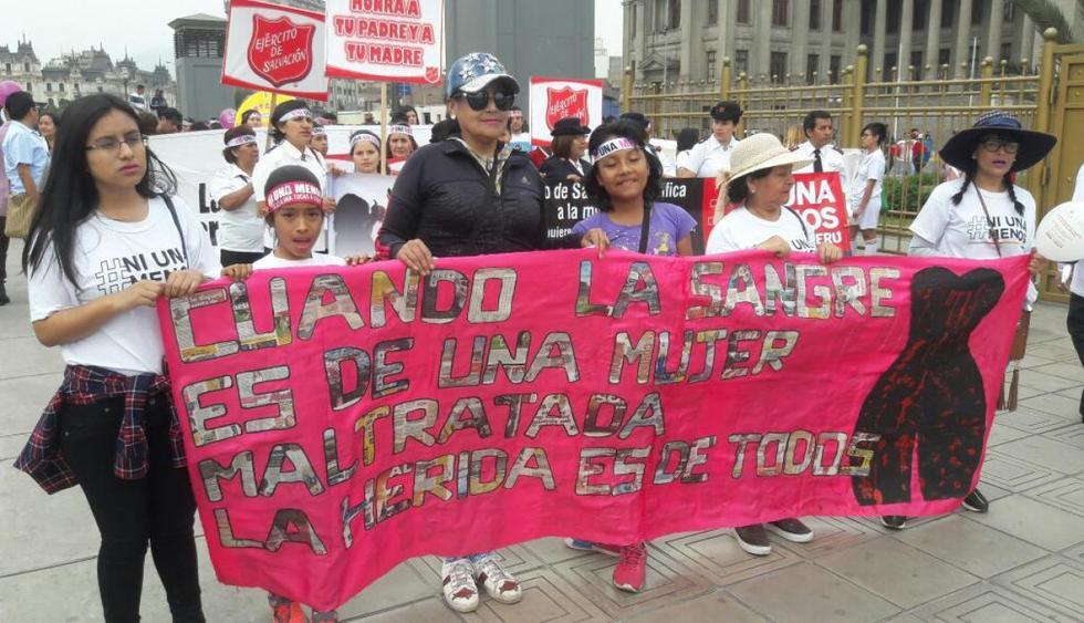 (Foto Referencial. Marcha 'Ni Una Menos', noviembre 2017. Fuente: El Comercio)