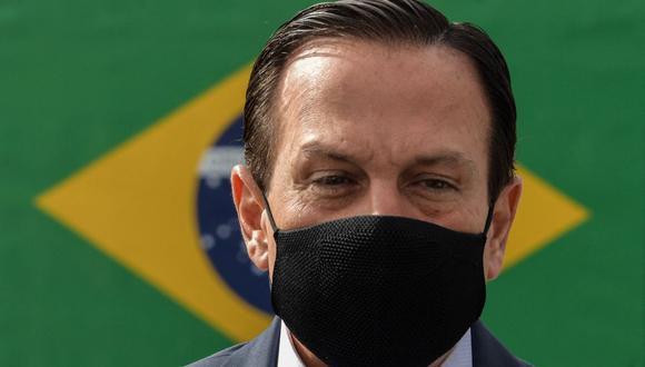 El gobernador de Sao Paulo, Joao Doria, habló sobre la realización de la Copa América en Brasil. (NELSON ALMEIDA / AFP).