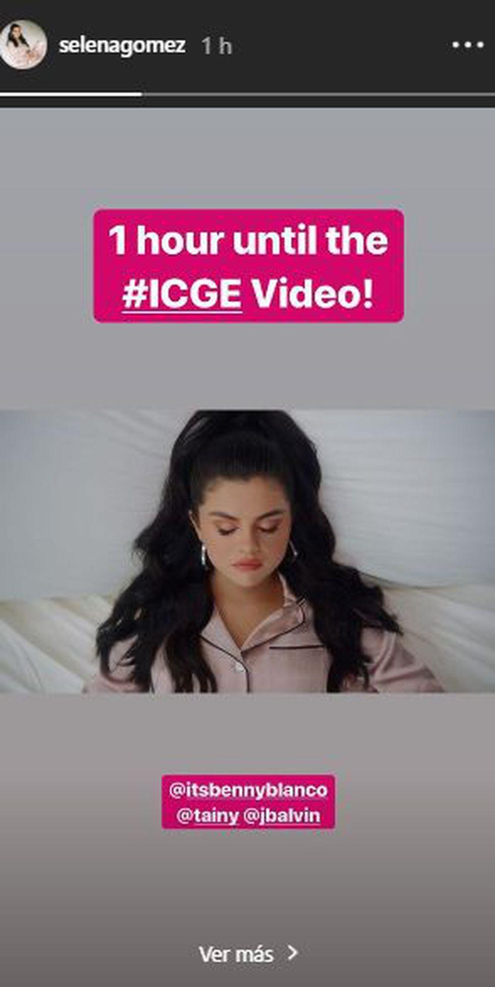 """Selena Gómez y J Balvin lanzaron el video oficial de su canción """"I Can't Get Enough"""". (Foto: @selenagomez)"""