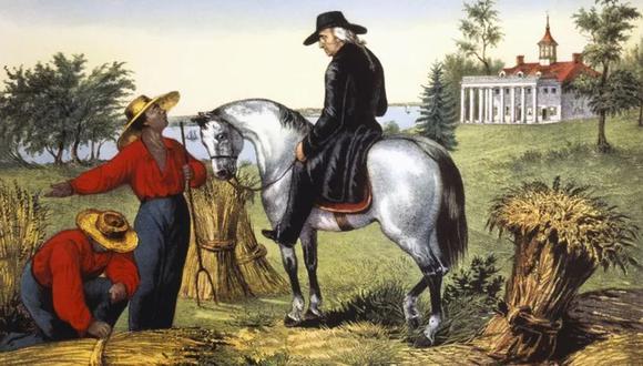 George Washington mantuvo a unos 300 en su plantación de Mount Vernon. (Getty Images)