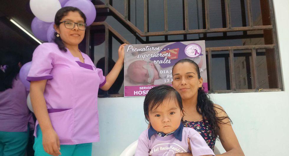 Fernando es uno de los bebes prematuros que nació con menos de dos kilos de peso y hoy ha podido reponerse a las adversidades. (Foto: Laura Urbina)