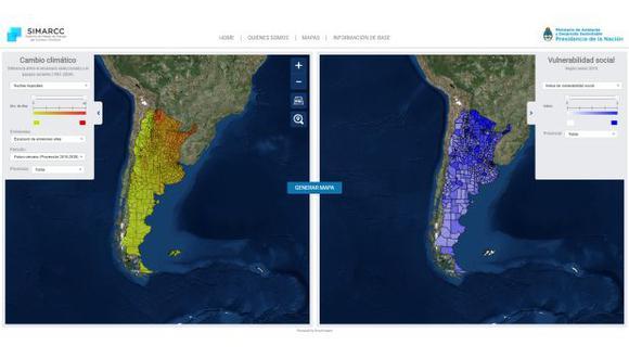 La nueva plataforma web estará disponible para la toma de decisiones, tanto del sector público como del privado. (Foto: Captura de pantalla)