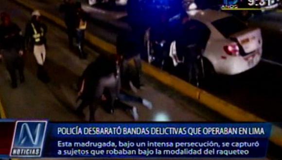Cae banda de raqueteros tras persecución en Vía Expresa [VIDEO]