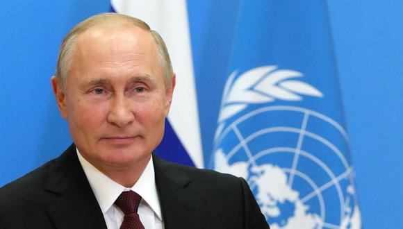 Vladimir Putin ofrece gratis a la ONU la vacuna rusa contra la Covid-19. (EFE/EPA/MICHAIL KLIMENTYEV).