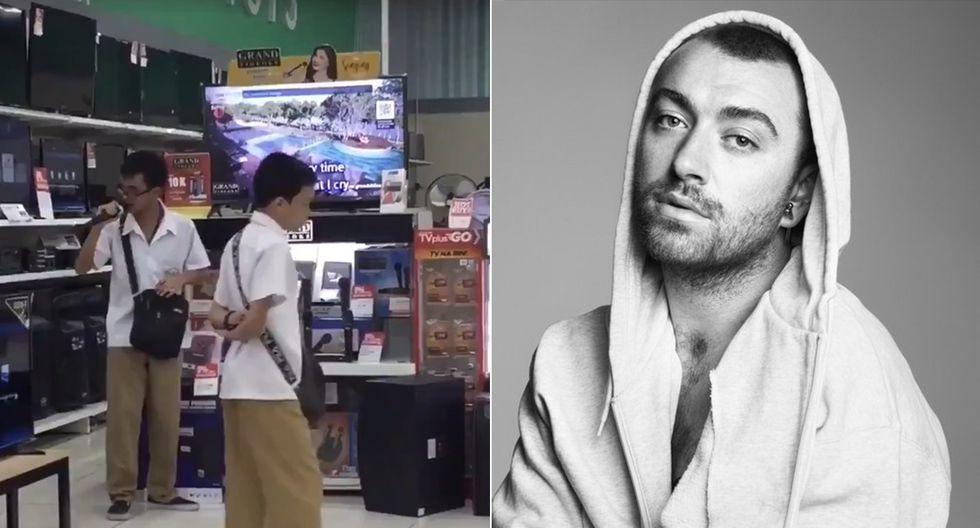 El joven filipino Carl Maldonado ha dejado boquiabierto a su ídolo, Sam Smith (dcha.) (Twitter / @samsmith)