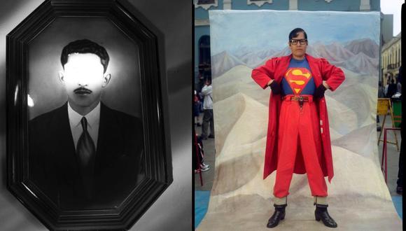 """Izq.: fotografía de César Campos, gráfico de El Comercio. Der.: fotografía de Sergio Urday. Ambas forman parte de la muestra """"Fotorepública""""."""