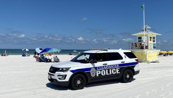 Un patrullero similar al que conducía el esposo de Clara Paulino. (Foto: Daniel SLIM / AFP).