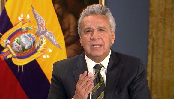 """Crisis en Ecuador: Lenín Moreno acusa a Nicolás Maduro y Rafael Correa de """"violencia nunca antes vista"""" en Quito. (AFP)."""