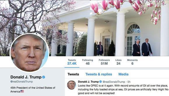 Justicia de Estados Unidos prohíbe a Donald Trump bloquear a sus críticos en Twitter. (Reuters).
