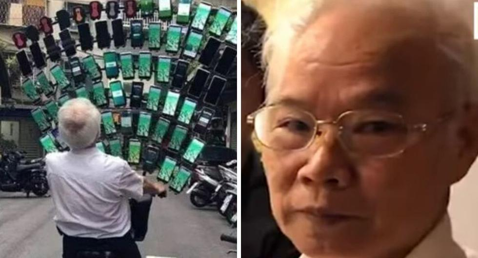 El anciano ha cautivado a miles por contar con decenas de móviles solo para jugar Pokémon GO. (Foto: 林嘉雯 / Facebook / YouTube)