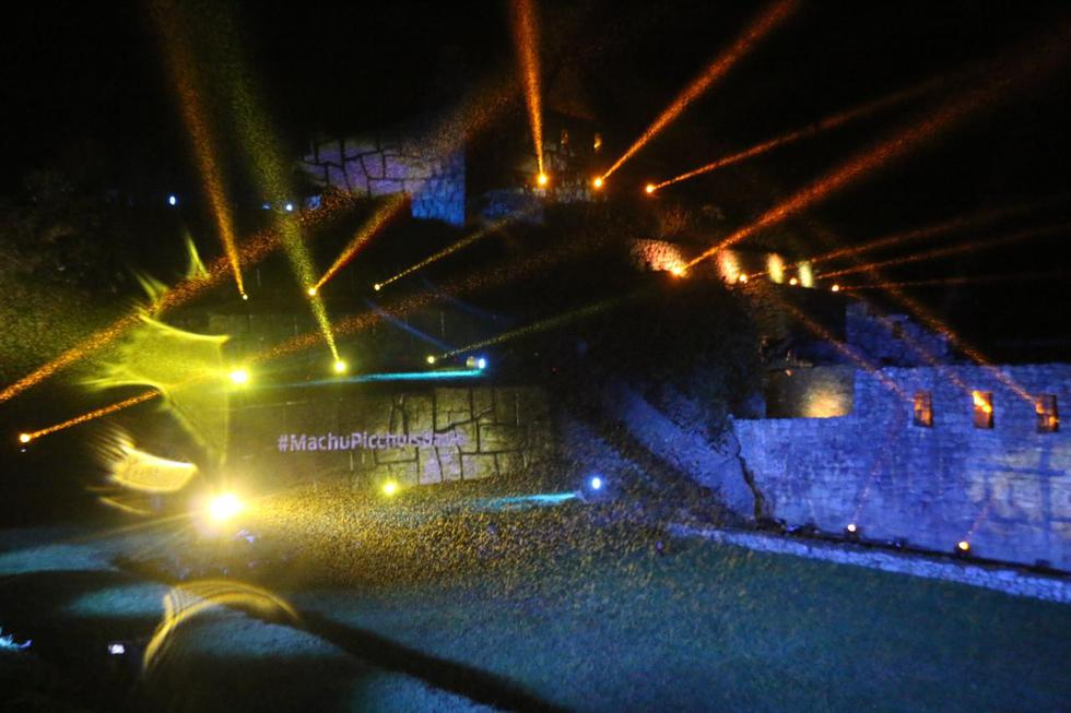 El juego de luces reavivó el deslumbrante paisaje de Machu Picchu (Foto: Juan Sequeiros)