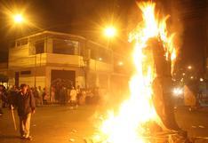 Vecinos que quemen muñecos por Año Nuevo en el Cercado de Lima serán multados con S/17.200