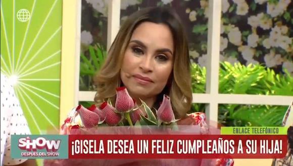 """Ethel Pozo llora en vivo tras recibir sorpresa por su cumpleaños en """"El show después del show"""". (Foto: Captura de pantalla)"""