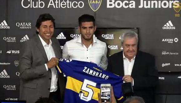 Zambrano asume el desafío tras dejar el Dinamo de Kiev. (Foto: Boca Juniors)