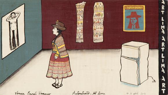 """De Venuca Evanán, """"Autorretrato Art Lima"""" ( 2018 ). La donación de US$100 permitirá adquirir equipos de protección para el personal sanitario de hospitales necesitados."""