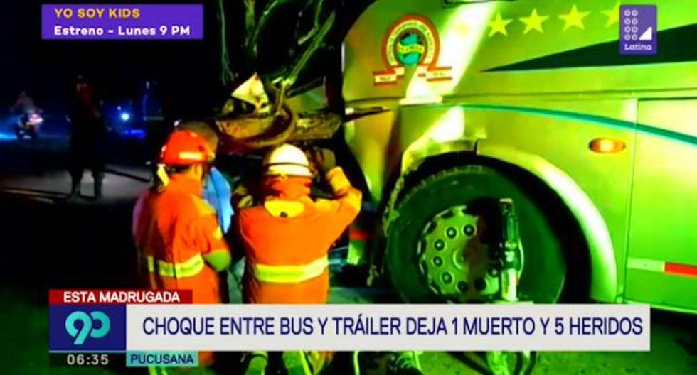 Accidente de reportó la noche del último sábado en la Panamericana Sur. (Foto captura: Latina)