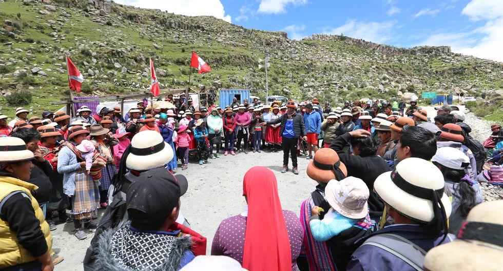 Comunidad de Fuerabamba continúa el diálogo con Las Bambas. (Foto: Antonio Álvarez)