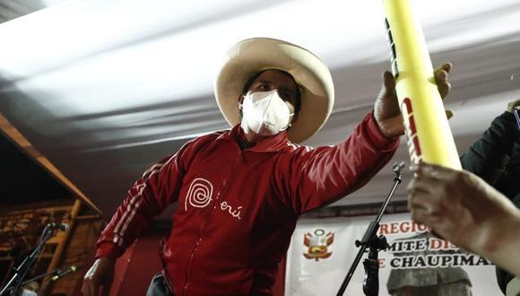 Pedro Castillo declaró ante la prensa sobre Vladimir Cerrón | Foto: César Campos / @photo.gec