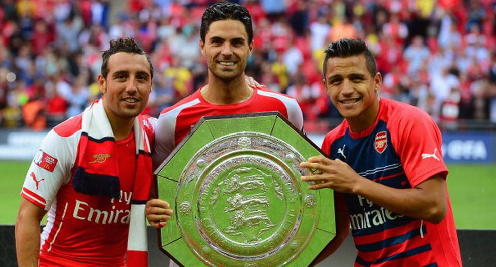 Alegría y emoción: Arsenal festejó título de Community Shield - 11