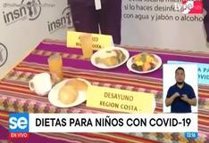 Conoce los nutrientes que deben consumir los niños con COVID-19