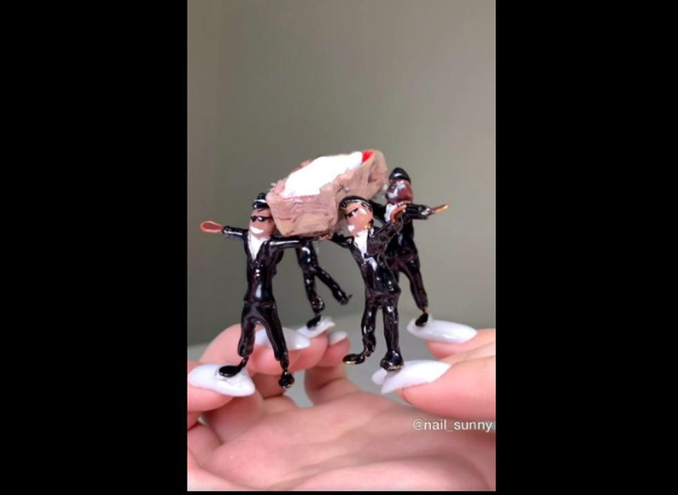 Los bailarines del coronavirus también son protagonistas en las uñas. (Foto: Instagram)