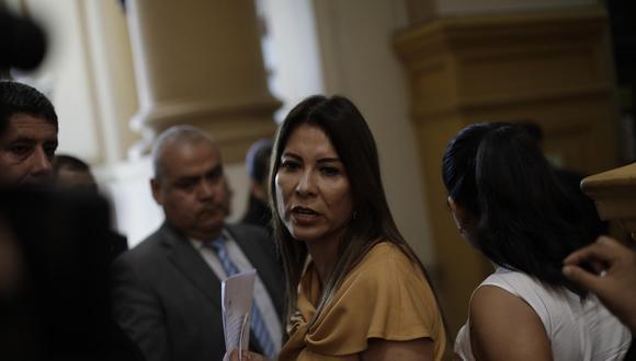 Mónica Saavedra, de Acción Popular, fue la candidata más votada del partido. Ella omitió consignar una sentencia firme, por lo que su caso fue derivado a la fiscalía. (Foto: GEC)