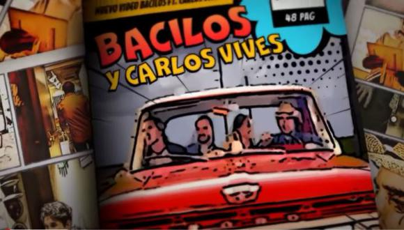 """Bacilos presentó video de nueva versión de """"Caraluna"""" con Carlos Vives. (Foto: Captura de YouTube)"""