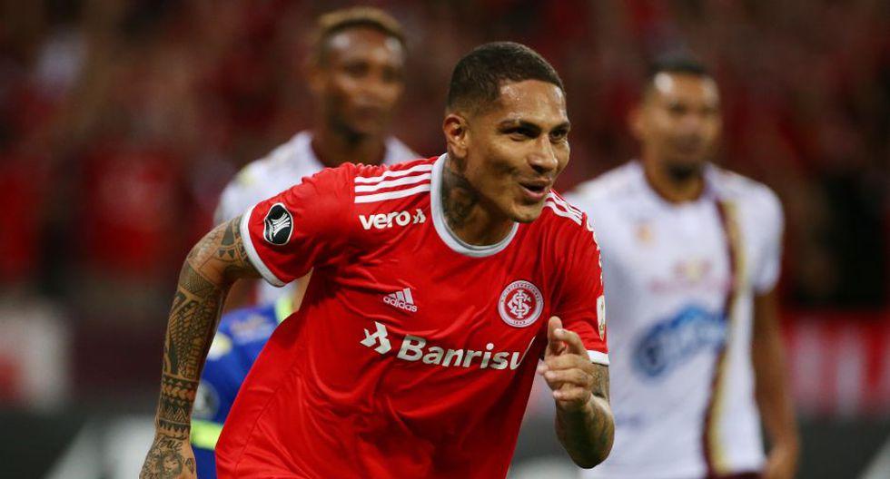Paolo Guerrero convirtió el 1-0 en el duelo entre Internacional vs. Tolima por la Copa Libertadores | Foto: Agencias