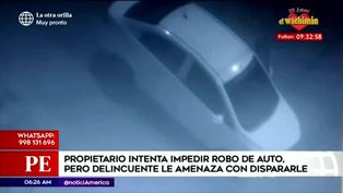 Hombre intenta impedir robo de su auto pero es amenazado con un arma