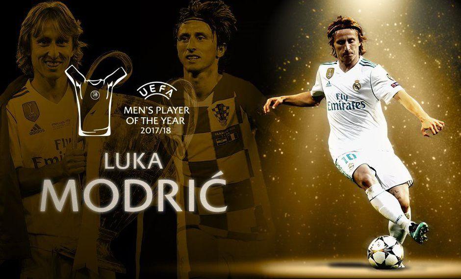 Luka Modric fue elegido como el mejor jugador de la temporada anterior en Europa. (Foto: UEFA)
