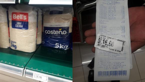 La Policía contrastó los precios que aparecen en los anaqueles y  los que se cobran a los clientes en la caja registradora. (Difusión)